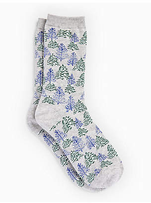 Talbots Holiday Tree Trouser Socks