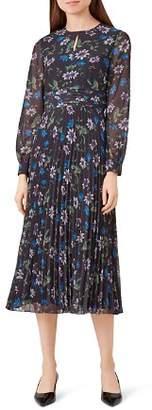 Hobbs London Passionflower Pleated Midi Dress
