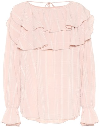 See by Chloe Jacquard crepe blouse