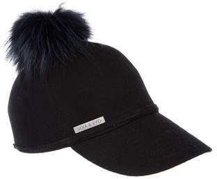 Soia & Kyo Fur Pom-Pom Hat