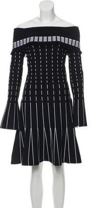 Prabal Gurung Off-The-Shoulder Knit Dress