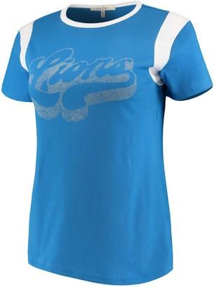 Retro Sport Unbranded Women's Junk Food Blue/White Detroit Lions T-Shirt