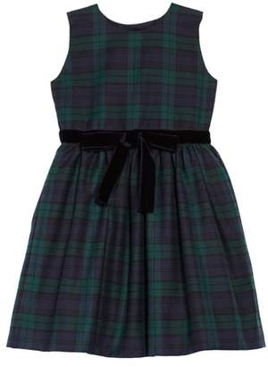 Oscar de la Renta Plaid Belted Dress