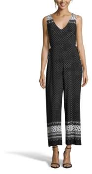 John Paul Richard Black and White Sleeveless Jumpsuit
