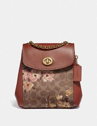 Coach Parker Convertible Backpack 16 In Signature Canvas With Prairie Floral Print