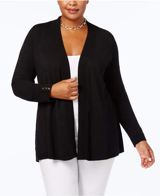 Charter Club Plus Size Open-Front Cardigan, Created for Macy's