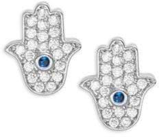 Tai Pave Hamsa Stud Earrings
