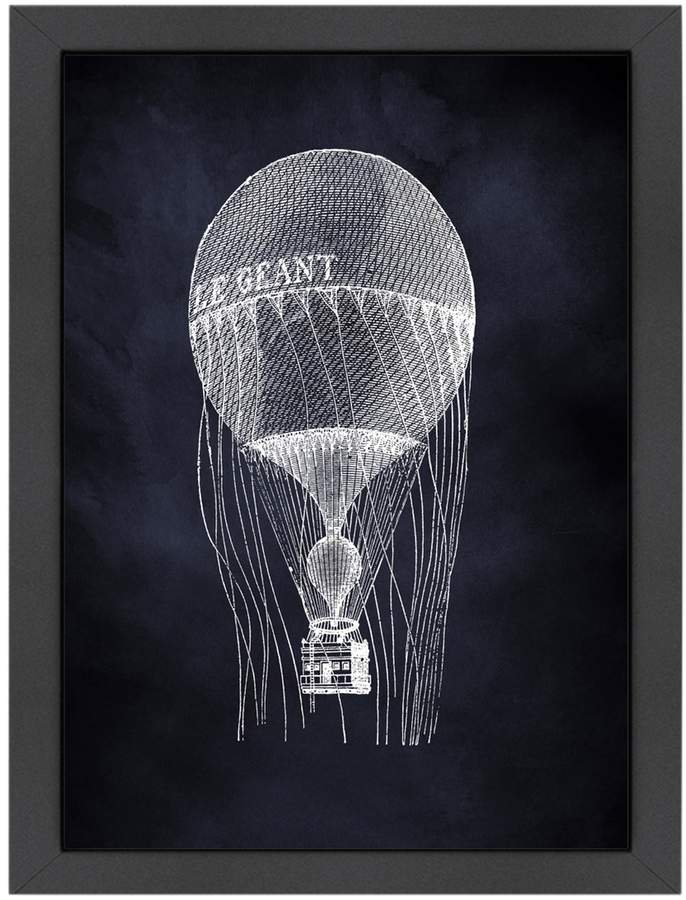 Americanflat Le Geant Balloon by Coastal Print & Design (Framed Giclee)
