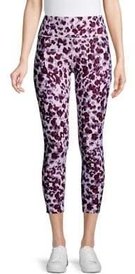 Calvin Klein Jaguar-Print Cropped Leggings