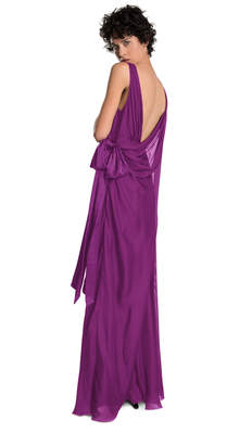 Max Studio draped silk mesh chiffon dress