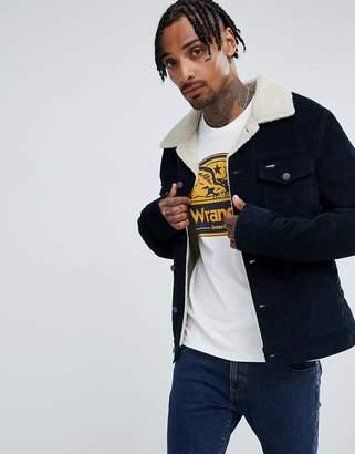 Wrangler navy cord borg jacket