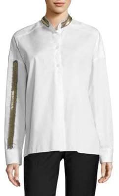 Each X Other Beaded Cotton Poplin Shirt
