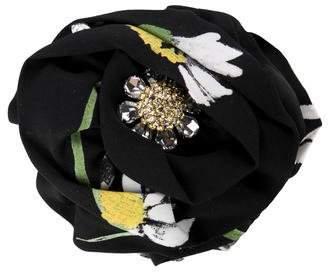 Dolce & Gabbana Embellished Silk-Trimmed Hair Claw w/ Tags