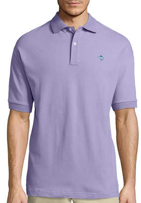 BISCAYNE BAY Biscayne Bay Embroidered Short Sleeve Knit Polo Shirt