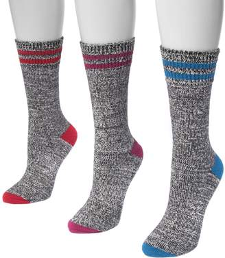 Muk Luks Women's Three-Pair Pack Boot Socks