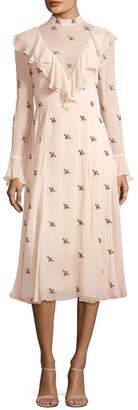 Temperley London Beaded Ruffle Dress