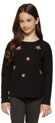 Dex Girl's Floral Cotton Sweater