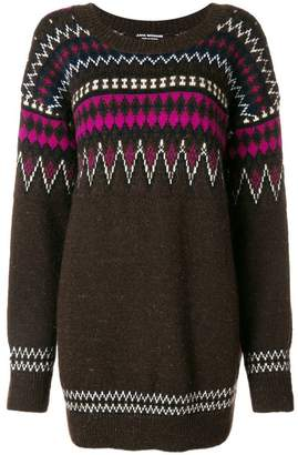 Junya Watanabe zig-zag long knitted sweater