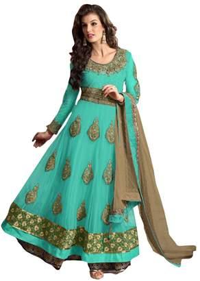 SHRI BALAJI SILK & COTTON SAREE EMPORIUM Indian Anarkali Salwar Kameez Suit Wedding Ethnic Muslim Women Dress Sexy