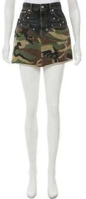 Saint Laurent Camouflage Mini Skirt