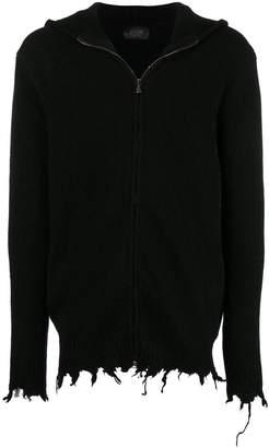 Overcome zipped knit cardigan