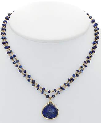 Rachel Reinhardt 14K Over Silver Blue Lapis Necklace