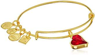 Alex and Ani Charity By Design (PRODUCT)RED Heart of Strength Charm Bangle Shiny Silver