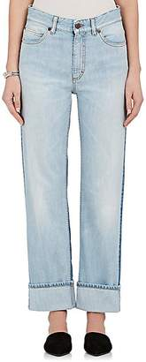 Fiorucci Women's Bella Colorblocked Straight Crop Jeans - Dk. Blue Size 25
