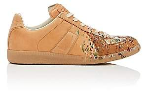 "Maison Margiela Men's ""Replica"" Leather & Suede Sneakers-Brown"
