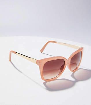 LOFT Metallic Arm Square Sunglasses