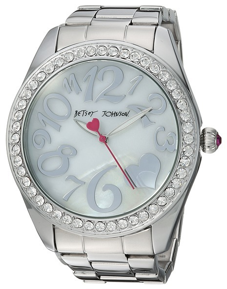Betsey Johnson Betsey Johnson - BJ00249-38 - Silver Boyfriend Watches