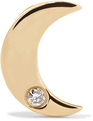 STONE AND STRAND - 14-karat Gold Diamond Earring