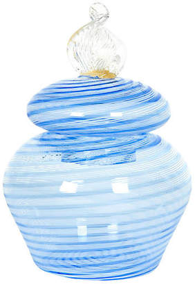 One Kings Lane Vintage Lidded Murano Glass Jar - La Maison Supreme