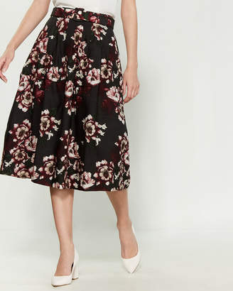 Samantha Sung Claire Floral Flared Skirt