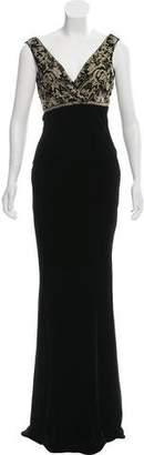 Ralph Lauren Black Label Sleeveless Velvet Evening Dress w/ Tags