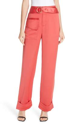 Self-Portrait Satin Accent Trousers