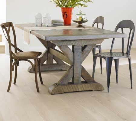 7' Vintage Fir Cross-Beam Table