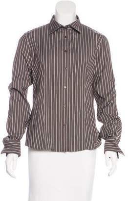 Loro Piana Pinstripe Button-Up Top