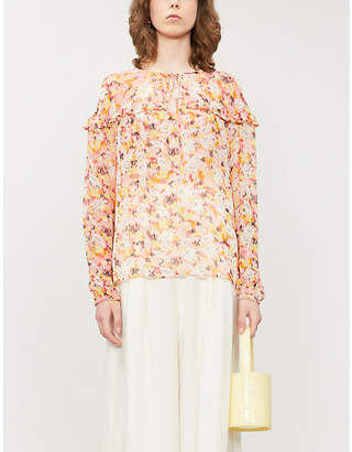 Ghost Bette floral-print chiffon blouse