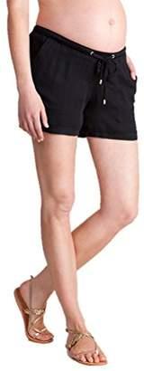 Seraphine セラフィン マタニティパンツ Saffia ウーブンマタニティショートパンツ イギリスサイズ12 ブラック