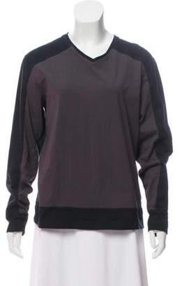 DKNY Long Sleeve V-Neck Top