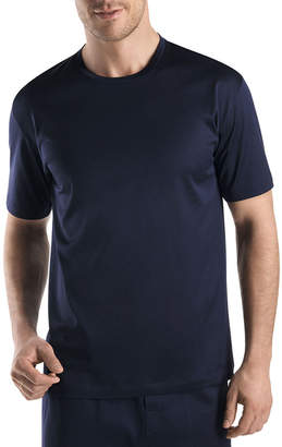 Hanro Sporty Crewneck T-Shirt, Midnight Navy