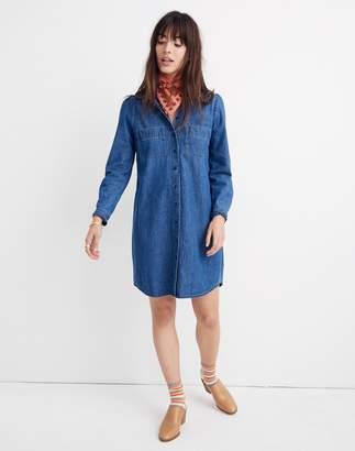 Madewell Denim Puff-Sleeve Shirtdress in Harris Wash