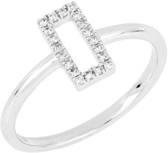 Carriere JEWELRY Diamond Open Rectangle Ring