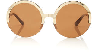 Marni Full Moon Metal Round-Frame Sunglasses