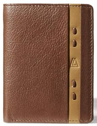 Leather Architect Men's 100% Leather RFID Blocking Classic Trifold Wallet with 9 Credit Card Slots