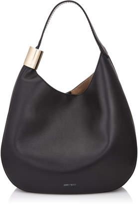 Jimmy Choo STEVIE Black Nappa Leather Shoulder Bag