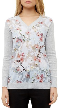 Ted Baker Floral Print Sweater $225 thestylecure.com