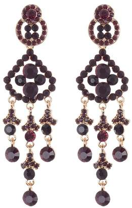 Natasha Accessories Pear Shaped Chandelier Drop Earrings