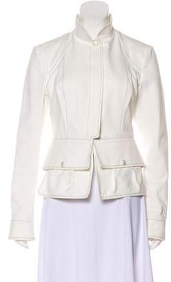 Chanel Contrast Stitch Button-Up Jacket